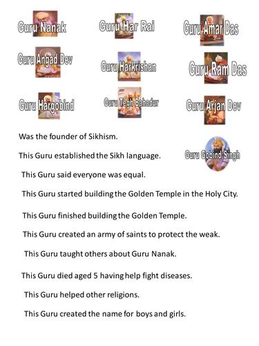10 Guru\'s of Sikhism by Andyjink99 - Teaching Resources - Tes