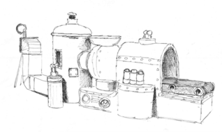 Cracking Contraptions! pictures (pencil line drawings) by