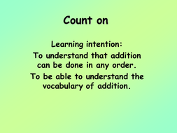 Y3 - Mental Maths - Count on