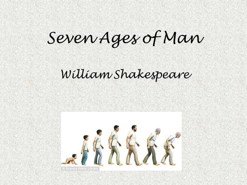 The Seven Ages of Man: Interactive Analysis Lesson by