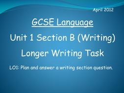 GCSE English Language Writing Section Practice 2