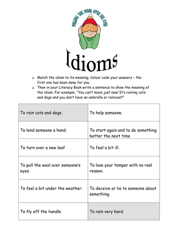 Idioms Worksheets By Supreme316 Teaching Resources Tes