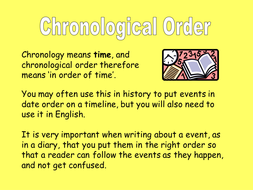 Chronological order essay writing