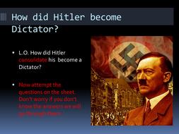 'hitler established a dictatorship by the