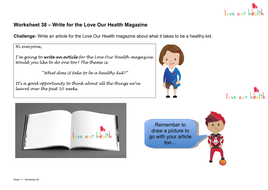 Write for the Love Our Health Magazine by GEMorshdy