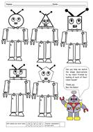 Match the 2D shape descriptions to the Robots