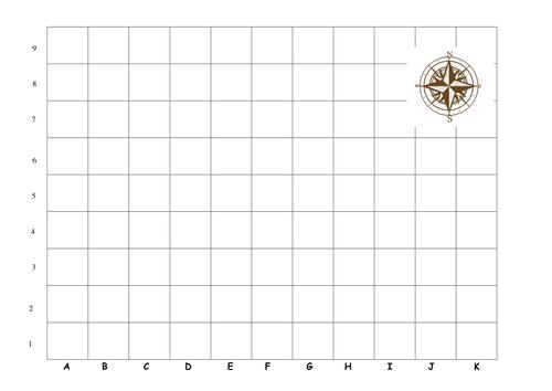 Pirates Ahoy wk2 by Janxblu Teaching Resources Tes – Map Grid Worksheets