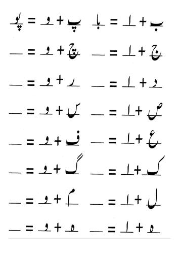 Alphabets in Urdu by masood_has | Teaching Resources