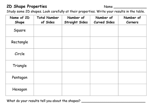 2D and 3D Shape Worksheets by ehazelden Teaching Resources TES – 2d Shapes Worksheet