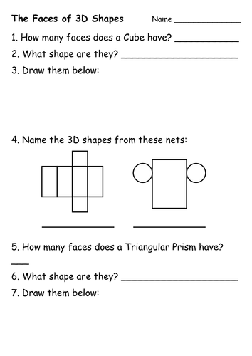Printables 2d And 3d Shapes Worksheet 2d and 3d shape worksheets by ehazelden teaching resources tes