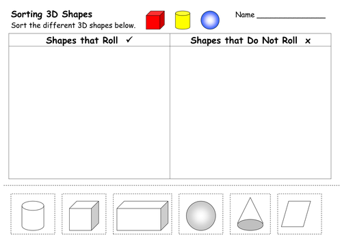 2D and 3D Shape Worksheets by ehazelden Teaching Resources TES – 3d Shapes Worksheets for Kindergarten
