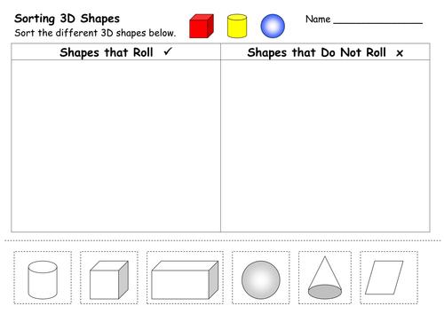 2D and 3D Shape Worksheets by ehazelden Teaching Resources TES – 3d Shape Worksheets for Kindergarten