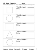 Worksheets 2d Shapes Worksheet 2d and 3d shape worksheets by ehazelden teaching resources tes properties y1 or 2 doc