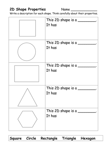 2D and 3D Shape Worksheets by ehazelden - Teaching Resources - TES