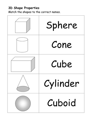 Printables 3d Worksheets 2d and 3d shape worksheets by ehazelden teaching resources tes