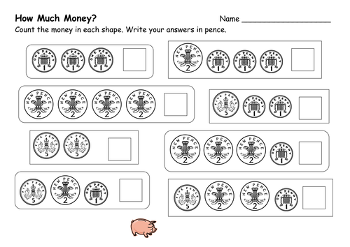 Money Worksheets by ehazelden Teaching Resources TES – Early Years Maths Worksheets