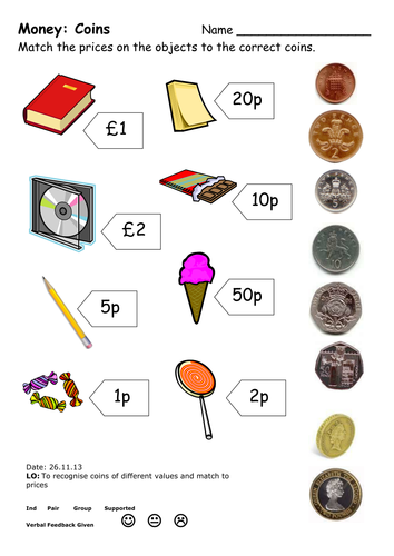 Money Worksheets by ehazelden - Teaching Resources - TES