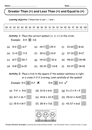 Number Names Worksheets greater than and less than worksheets : and > (Greater than & Less than) by oceanic-dolphin - Teaching ...
