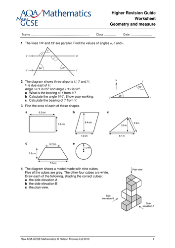 GCSE Maths revision worksheets by NTsecondary - Teaching Resources ...