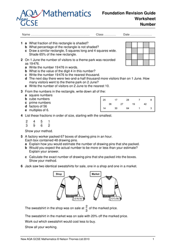 gcse maths revision worksheets by ntsecondary teaching resources tes. Black Bedroom Furniture Sets. Home Design Ideas