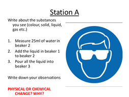 Carousel/stations physical chemical changes