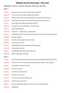 Fairy Tales as Play scripts