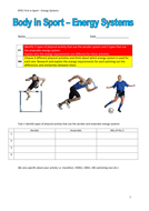 Body in Sport - Energy Systems
