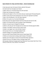 General Knowledge Quiz - Diamond Jubilee