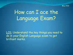 How to ace the GCSE English Language Exam