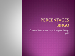 Simple percentages bingo.pptx