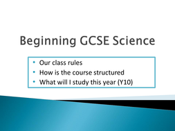 Introduction to Edexcel science 2012