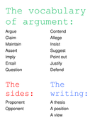 The vocabulary of argument.doc