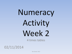 numeracy activity 2 (4 times table).pptx