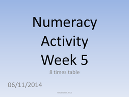 numeracy activity 5 (8 times table).pptx