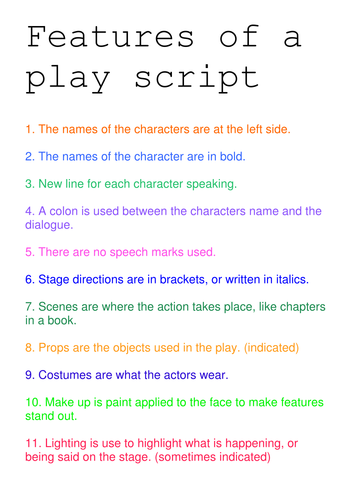 Play scripts by lamentations teaching resources tes for Script writing template for kids