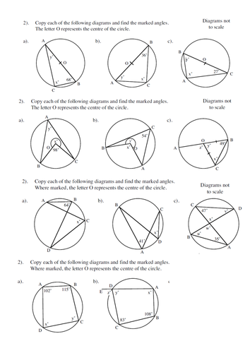 Circle Theorems Lesson Low Ability By Twiglet84 Teaching