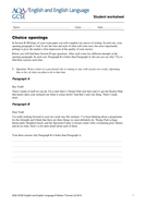 AQA English- Choice Opening Questions.doc