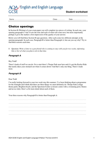 GCSE English revision worksheets by NTsecondary - Teaching ...