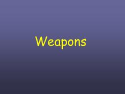 weapons used in medieval times ppt by beckyjanehutchings teaching