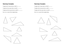 Naming Triangles By Stericker Teaching Resources Tes