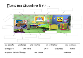 Dans Ma Chambre Les Meubles By Noeliagama Teaching Resources Tes
