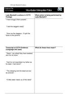 Macbeth: Act 2 Scene 2 Interactive CSI Lesson Plan