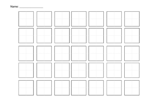 Chinese Calligraphy Paper Template: Writing paper templates excel ...