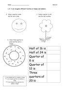 Fractions for Year 1