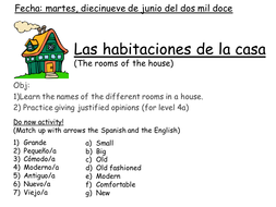 Spanish rooms: Las habitaciones