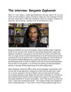 Interview with Benjamin Zephaniah.docx