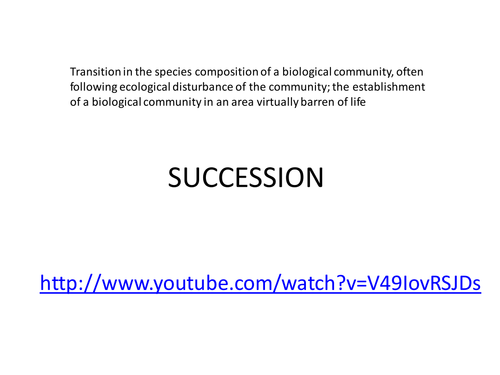 Succession by judyv Teaching Resources Tes – Primary and Secondary Succession Worksheet