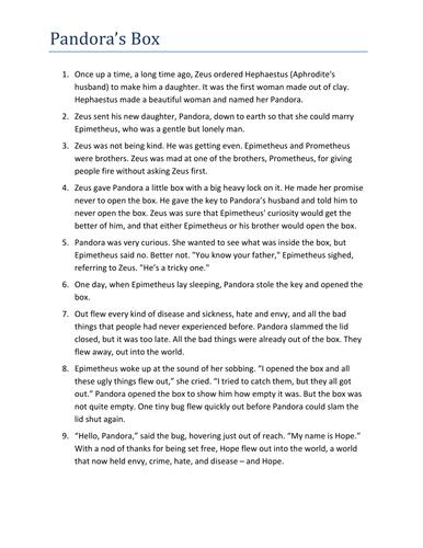 pandora s box stories script and comprehension by nthabiseng  pandora s box stories script and comprehension by nthabiseng teaching resources tes