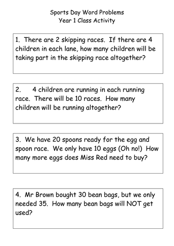 sports day maths word problems by nicolamiddleton teaching resources tes. Black Bedroom Furniture Sets. Home Design Ideas