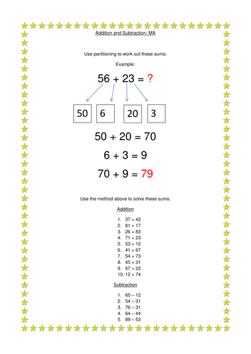 Year Two Partitioning by bentaylor8 - Teaching Resources - TES